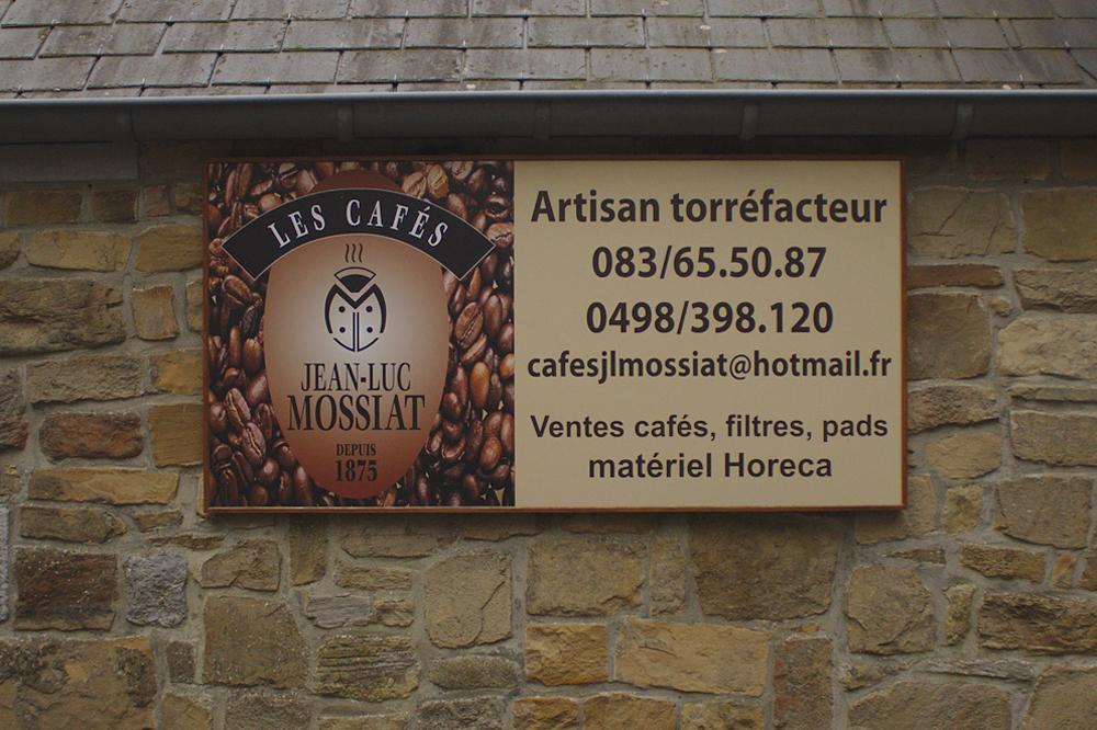 """Pencarte des cafés """"Jean-Luc Mossiat"""""""